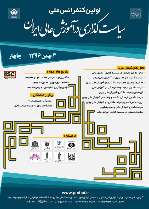همایش (کنفرانس) علوم تربیتی و آموزشی  بهمن 1396 ,همایش (کنفرانس) ملی ایران چابهار